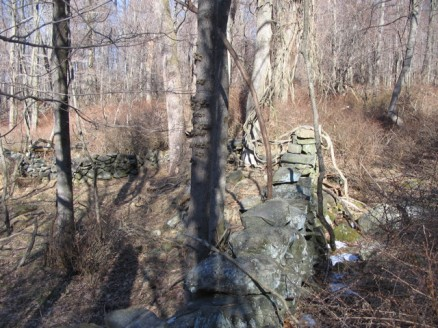 John E Hand Park stone walls