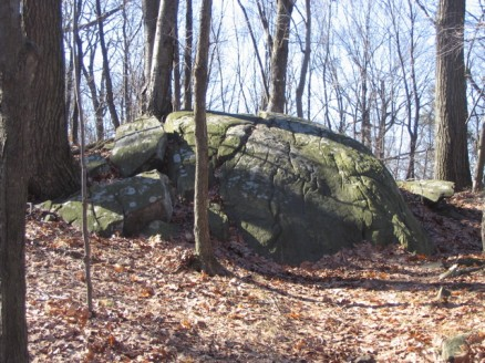 A rock outcropping on Bald Mountain