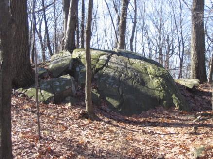 A rock outcropping on Bald Mountain