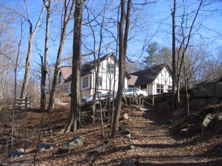 Teatown Lake Reservation education center, from the trail